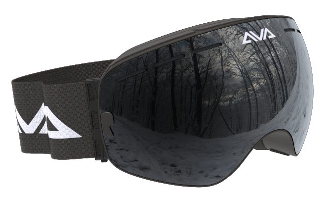 All black ski goggles