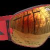 All red ski goggles