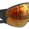 Black and Orange ski goggles
