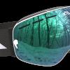 White Green and Black ski goggles