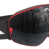 Red and Black ski goggles