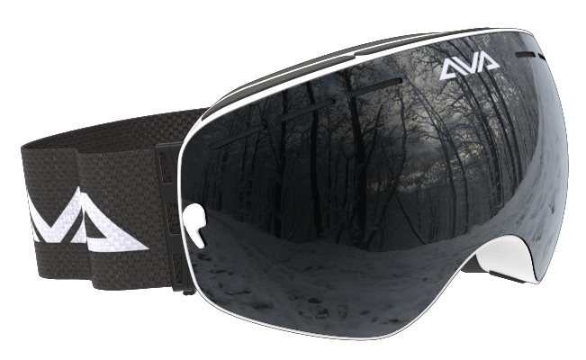 Black and White ski goggles