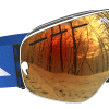 White Blue and Orange ski goggles
