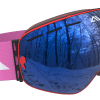 Red Blue and Pink ski goggles