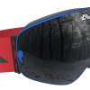 White Blue and Red ski goggles